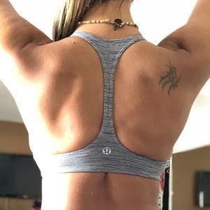 Lululemon Striped Halter Yoga Top/Bra